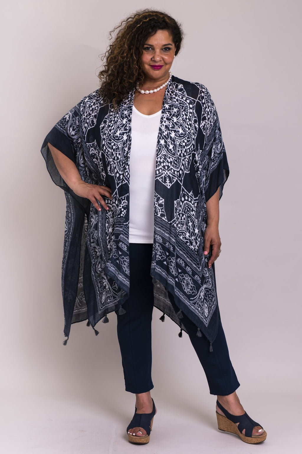 Darcy Coverup, Blue Poetry, Viscose One Size