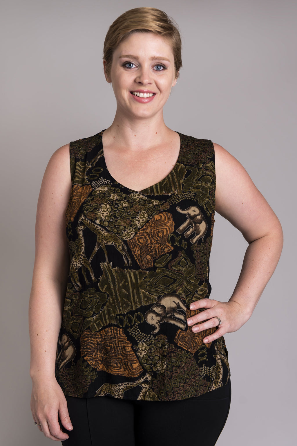 Darla Tank, Elephant - Blue Sky Clothing Co
