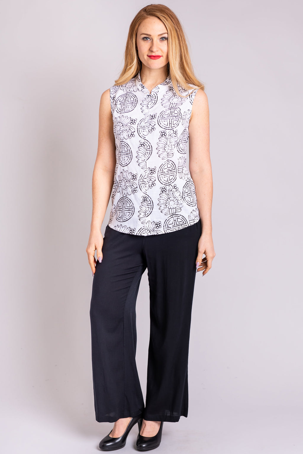 Debbie Top, Balance, Linen Bamboo - Blue Sky Clothing Co