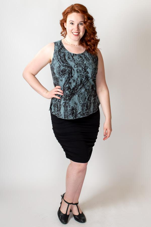 Dee Tank, Grey/Blk Paisley - Blue Sky Clothing Co