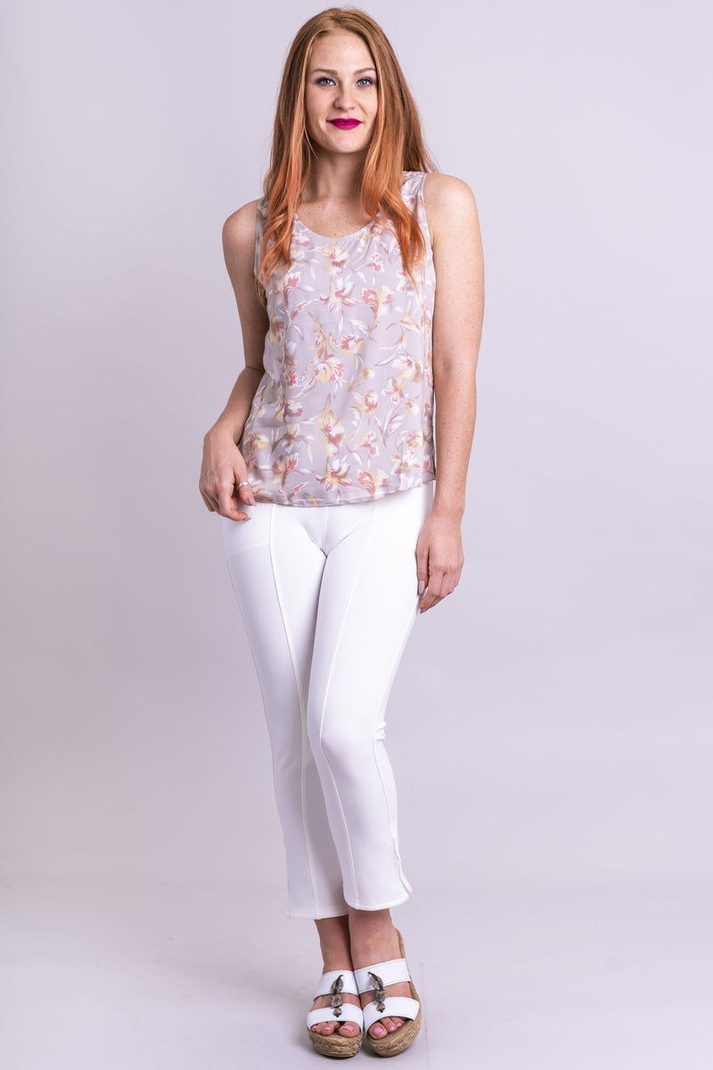 Dee Tank, Grey Orchids, Viscose - Blue Sky Clothing Co