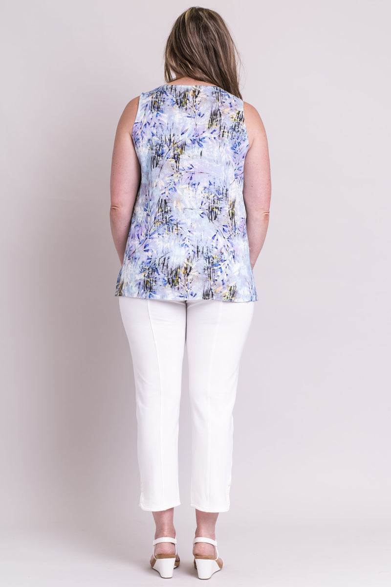 Dena Tank, Blue Zest , Viscose - Blue Sky Clothing Co