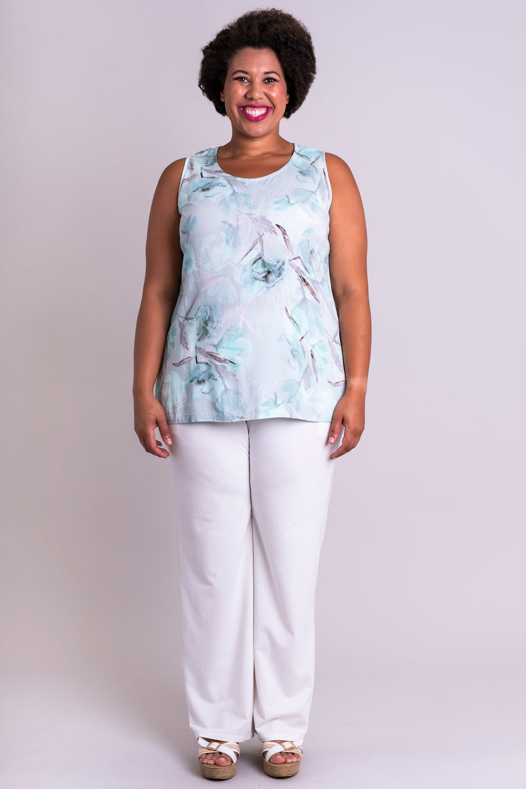 Dena Tank, Mintage, Linen Bamboo - Blue Sky Clothing Co