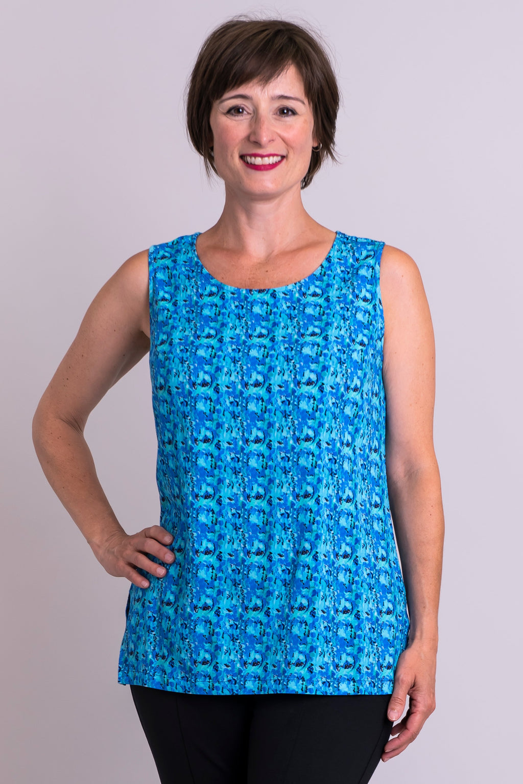 Dena Tank, Super Pontiac, Linen Bamboo - Blue Sky Clothing Co