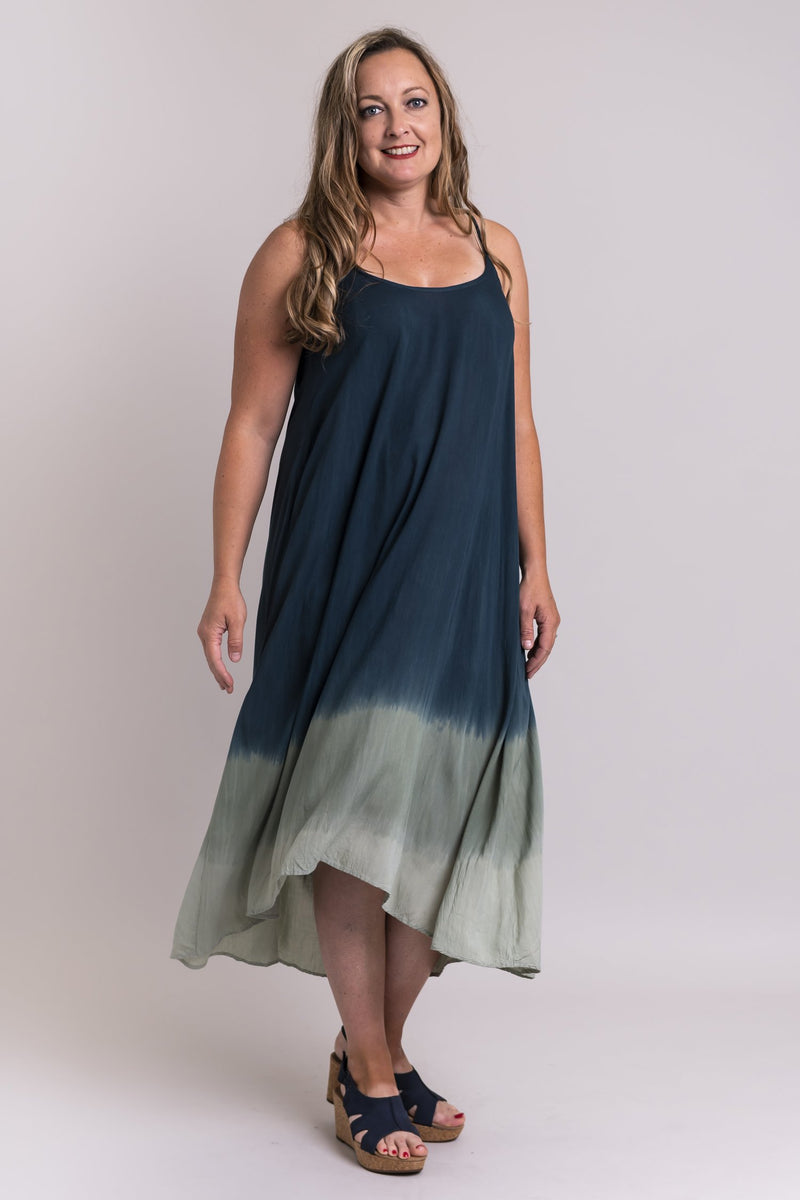 Dip Dye Dress, Antique Khaki