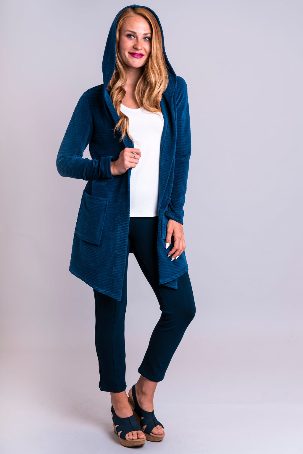 Doreen Jacket, Blue, Bamboo Cotton - Blue Sky Clothing Co