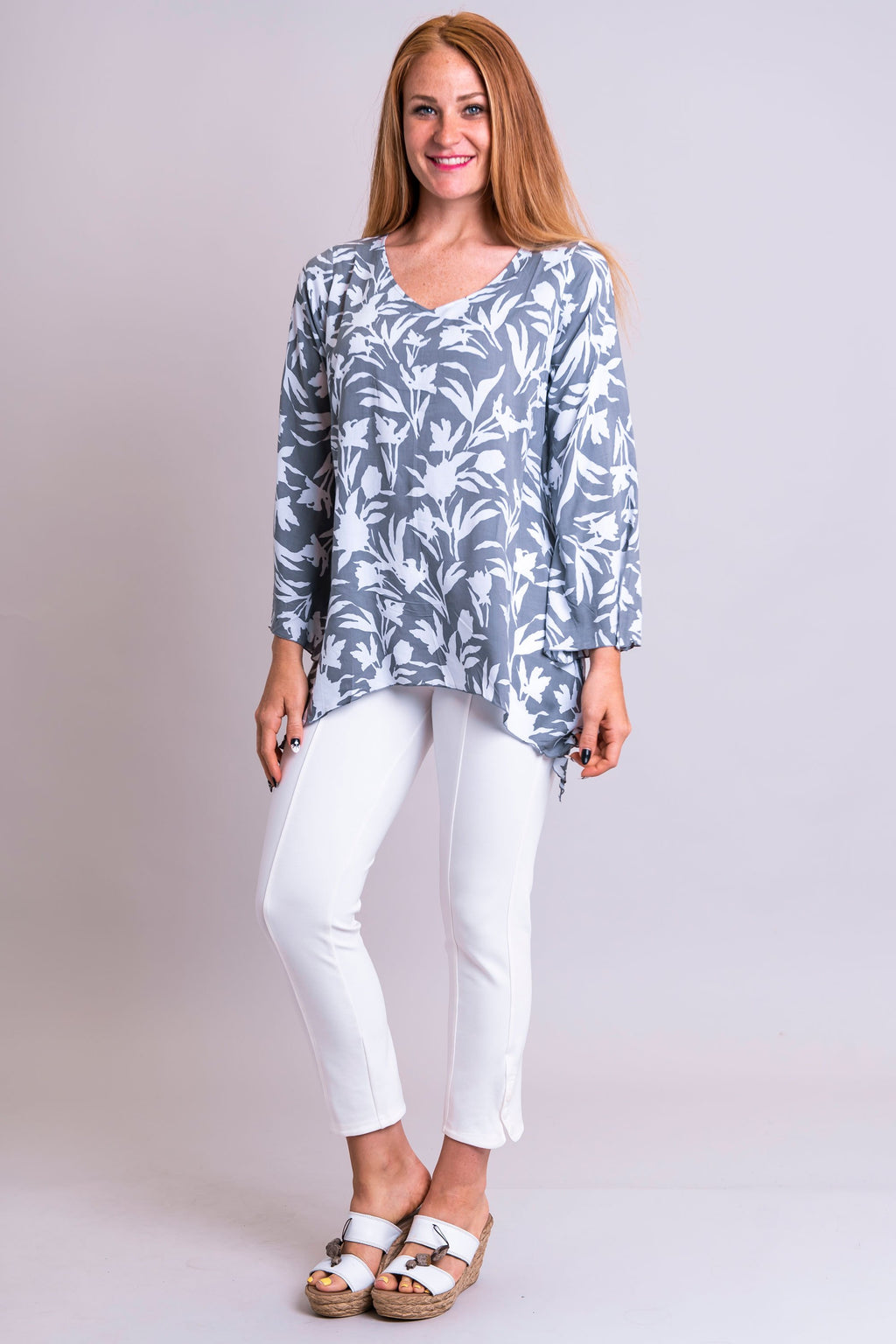 Dorothy Top, Edelweiss, Viscose - Blue Sky Clothing Co