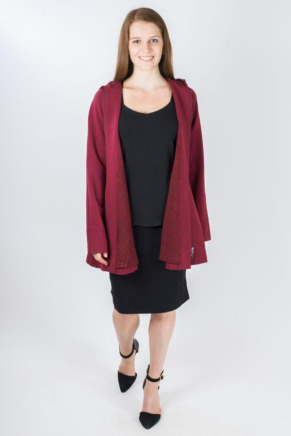 Eiffel Coat, Merlot, Modal - Blue Sky Clothing Co