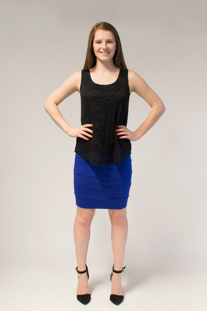 Ella Tank, Black Lace - Blue Sky Clothing Co