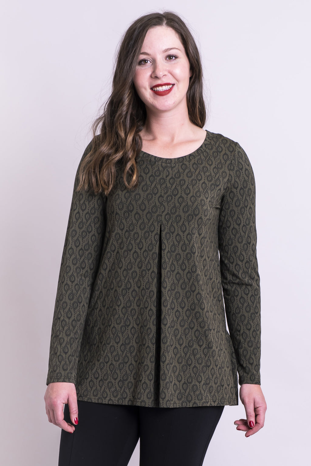 Franca Top, Khaki Chinook, Bamboo - Blue Sky Clothing Co