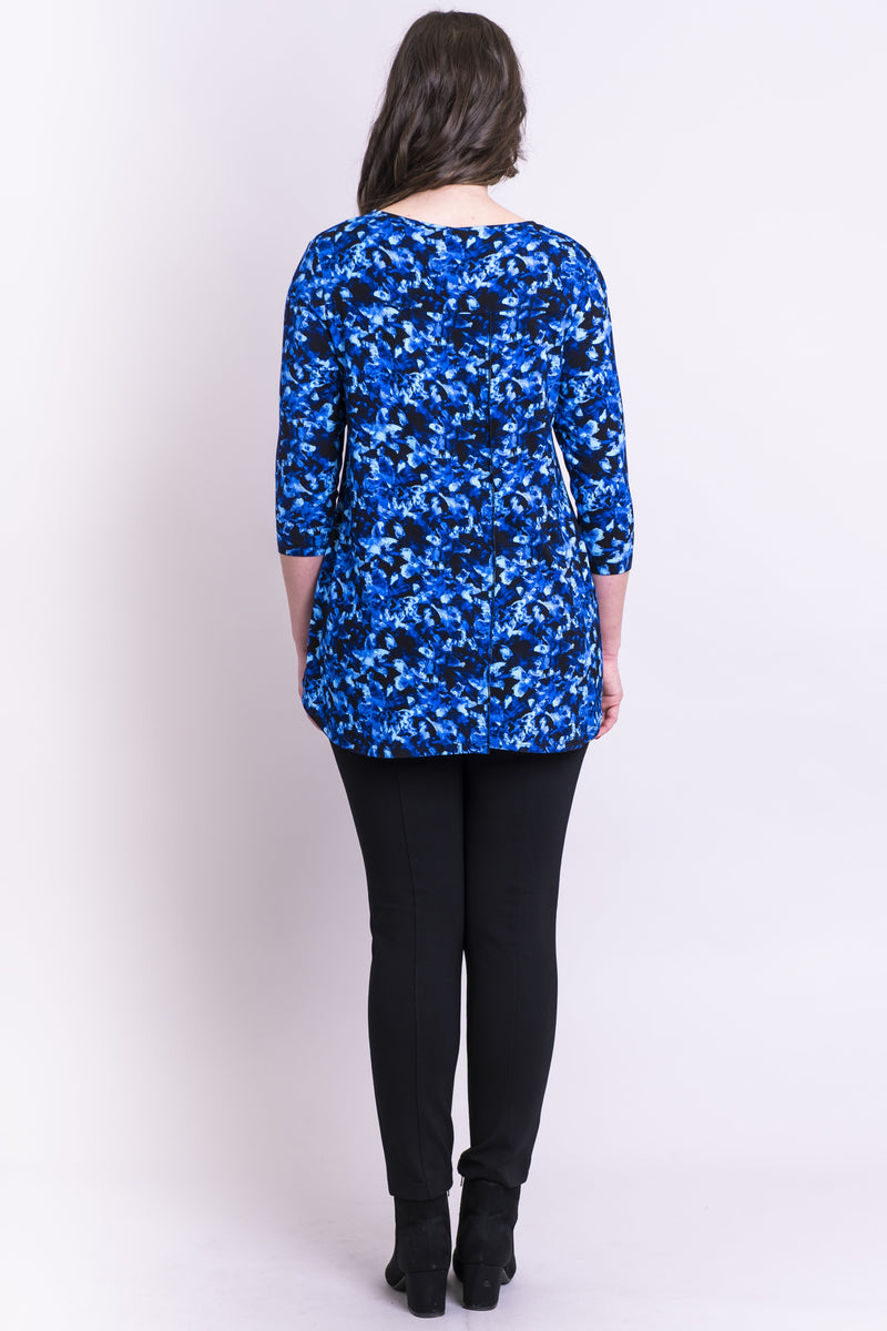 Franny Top, Violet Flora, Bamboo - Blue Sky Clothing Co