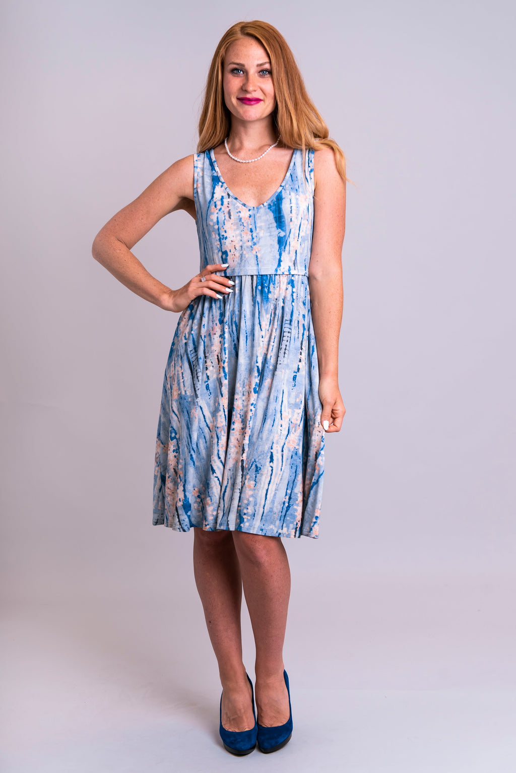 Georgiana Dress, Ocean Spirit, Bamboo - Blue Sky Clothing Co