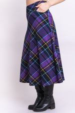 Gillian Skirt, Beautyberry Tartan, Bamboo - Blue Sky Clothing Co