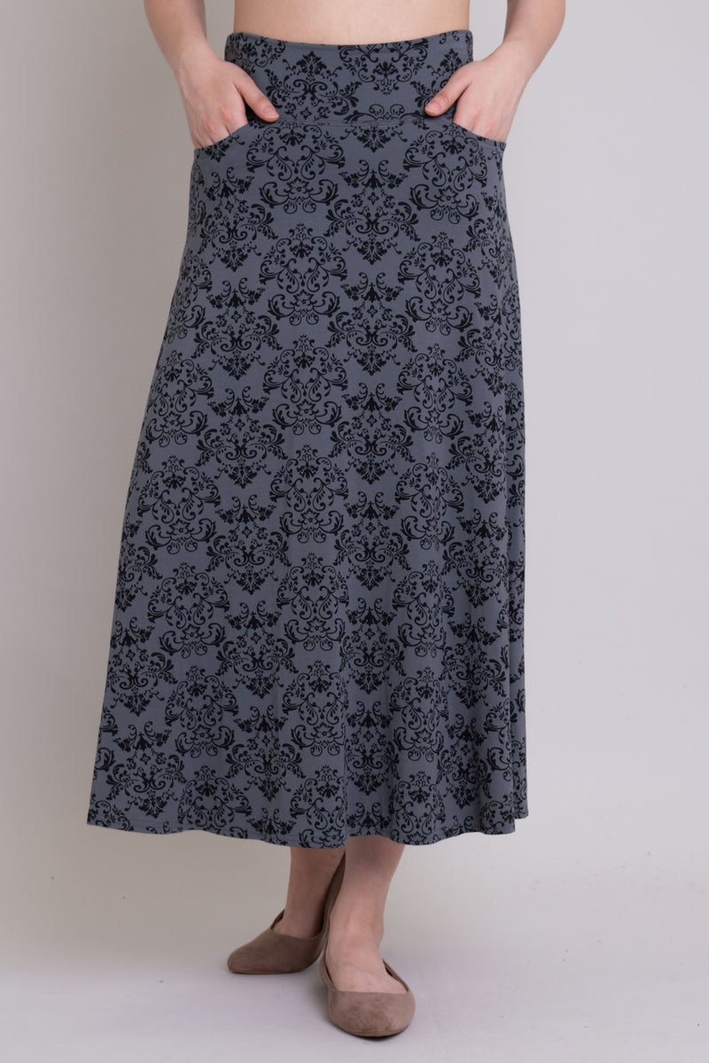 Gillian Skirt, Sharkskin Triumph, Bamboo