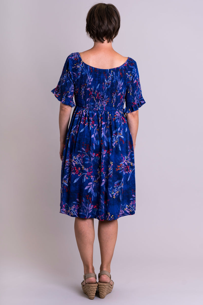 Gilmore Dress, Violetta, Linen Bamboo - Blue Sky Clothing Co