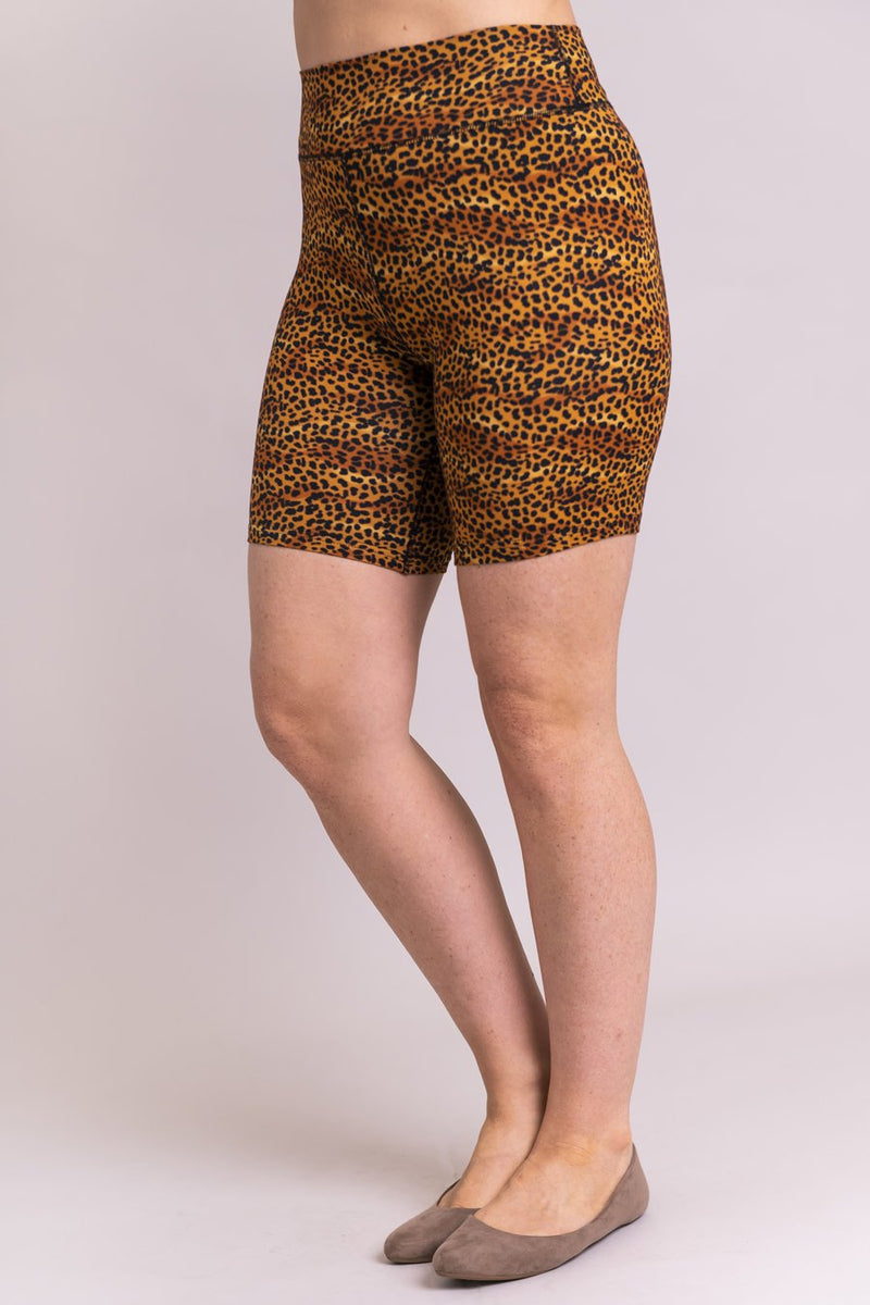 Hallie Shorts, Golden Cheetah, Bamboo