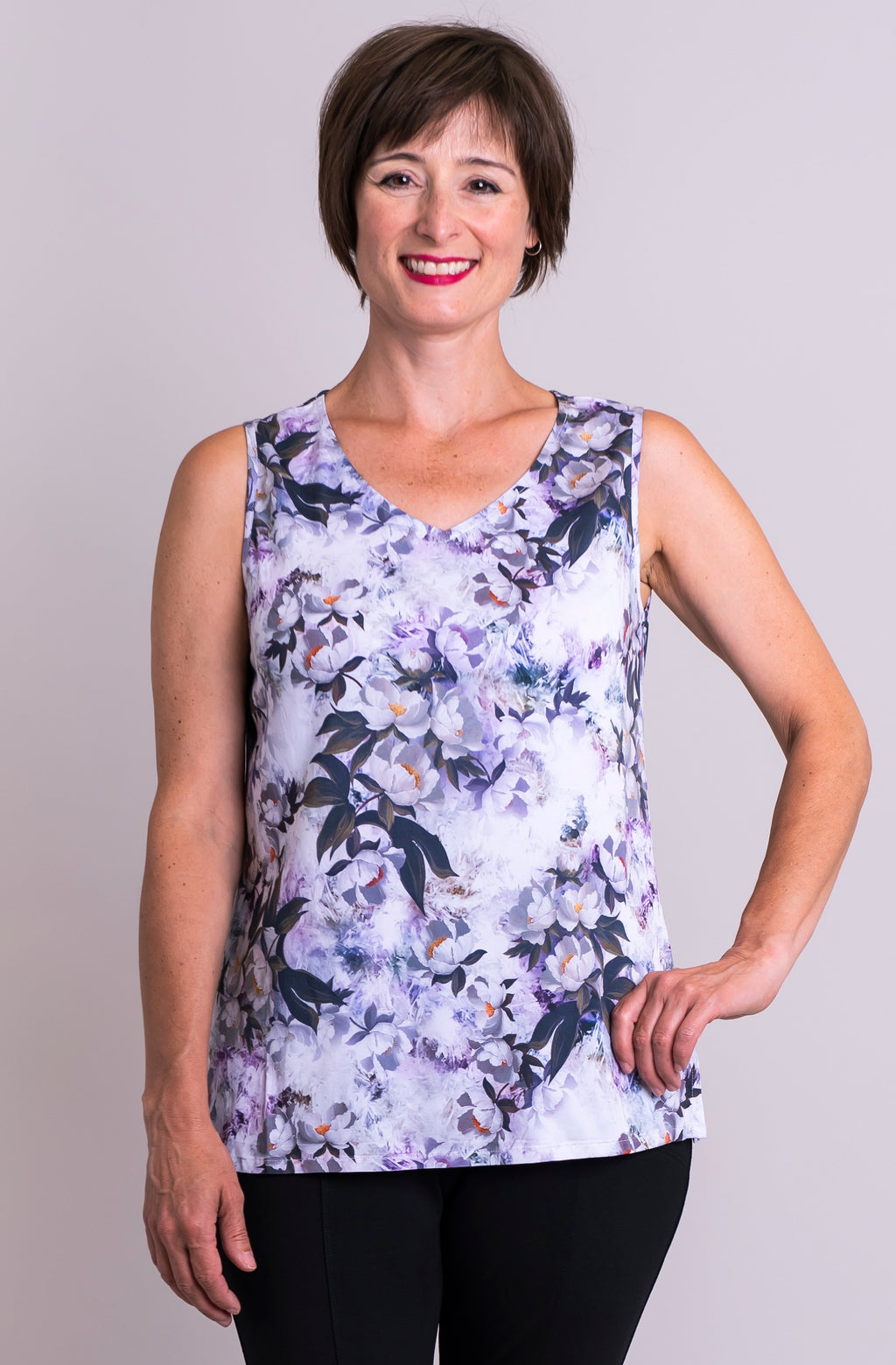 Hannah Tank, Belladonna, Viscose - Blue Sky Clothing Co