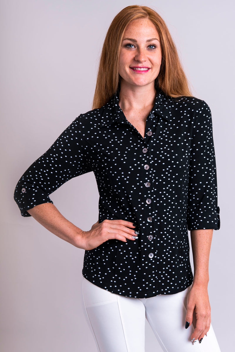 Harley Top, Vintage Polka, Bamboo - Blue Sky Clothing Co