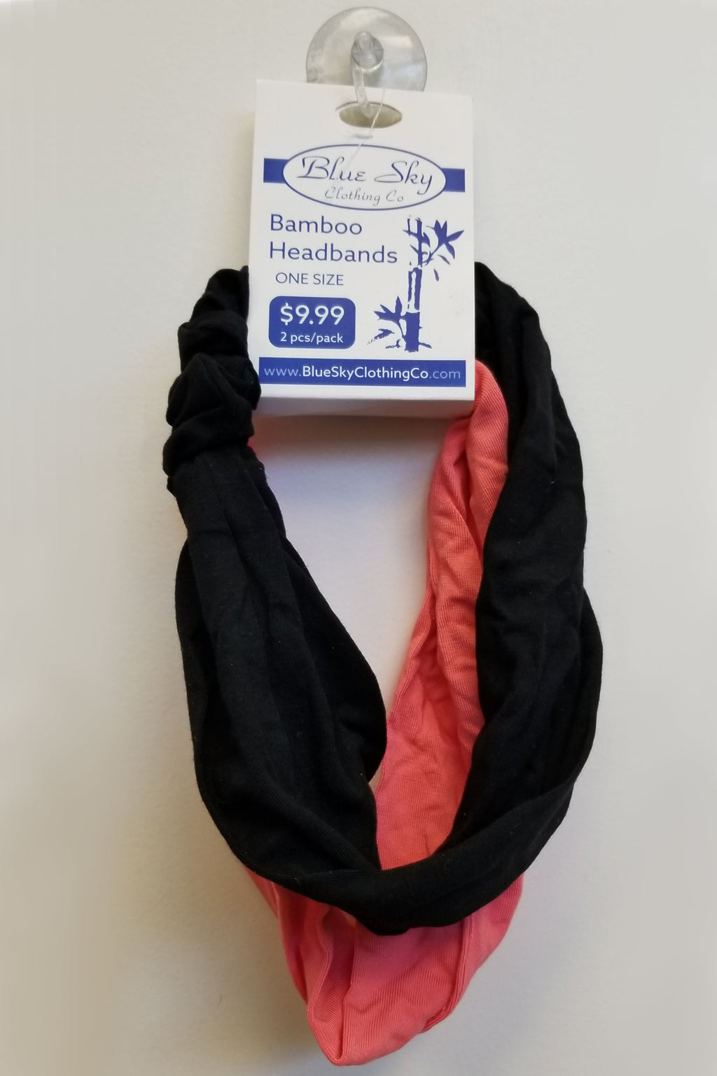 Bamboo Headbands, Black/Peach - Blue Sky Clothing Co