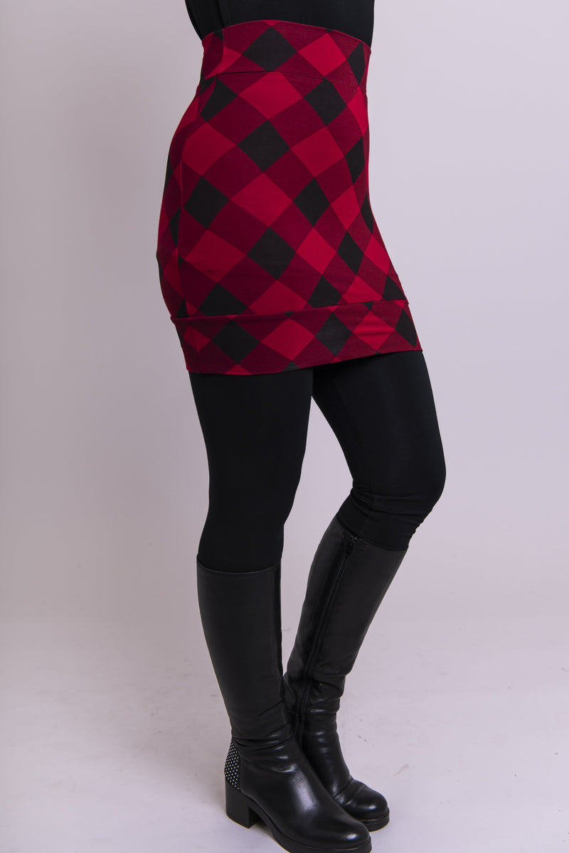 Heather Skirt, Red Plaid - Blue Sky Clothing Co