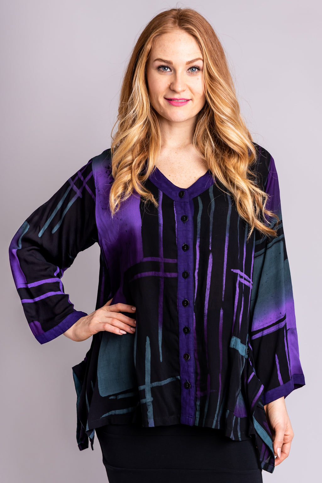 Hourglass Top, Royal Aztec - Blue Sky Clothing Co