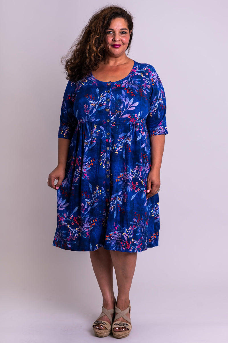 Indiana Dress, Violetta, Linen Bamboo - Blue Sky Clothing Co
