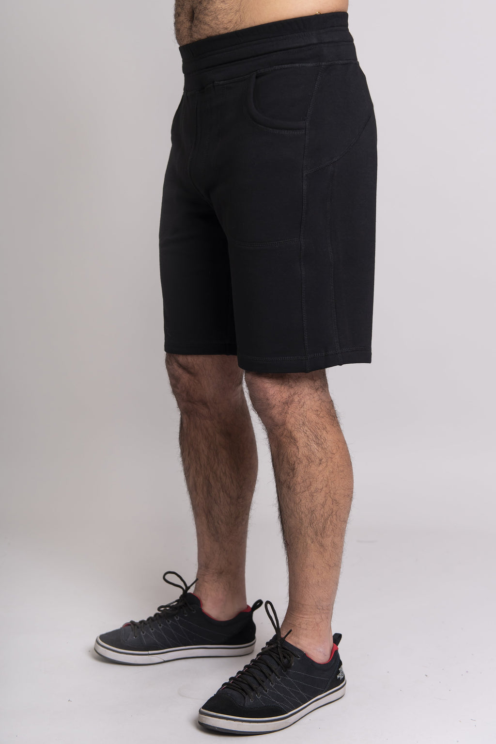 Jason Shorts, Black, Bamboo Fleece - Blue Sky Clothing Co