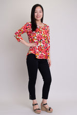 Jazz 3/4 Top, Briar Beauty, Bamboo - Blue Sky Clothing Co
