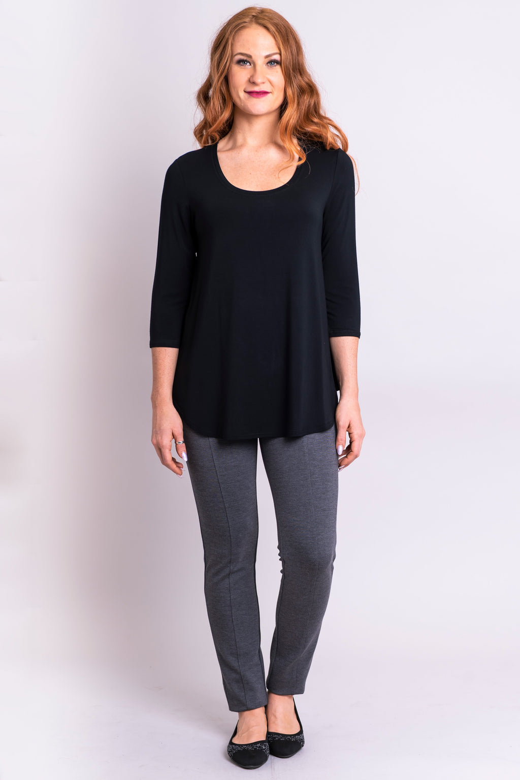 Jazz 3/4 Top, Black - Blue Sky Clothing Co