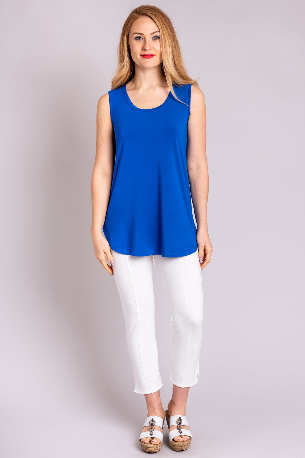Jazz Tank, Cobalt, Bamboo - Blue Sky Clothing Co