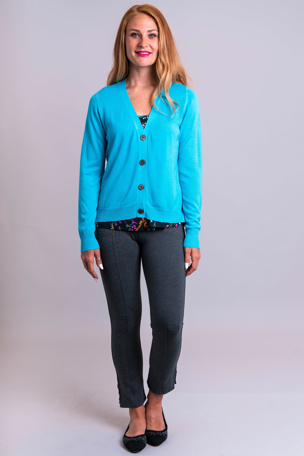 Jessica Sweater, Aqua, Bamboo/Cotton - Blue Sky Clothing Co