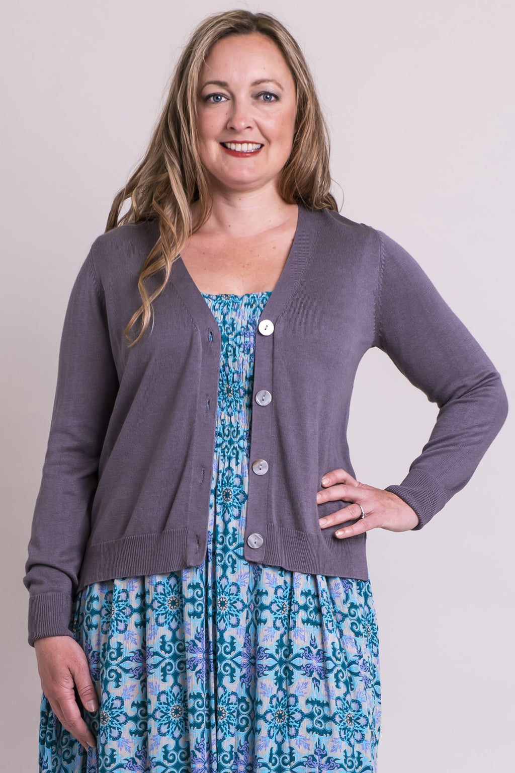 Jessica Sweater, Ash Grey , Bamboo Cotton - Blue Sky Clothing Co