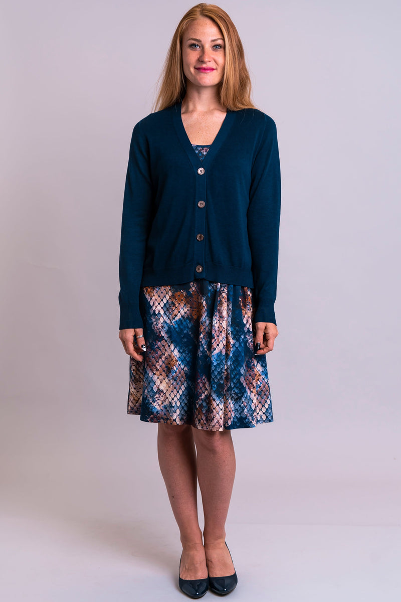 Jessica Sweater, Indigo, Bamboo Cotton - Blue Sky Clothing Co