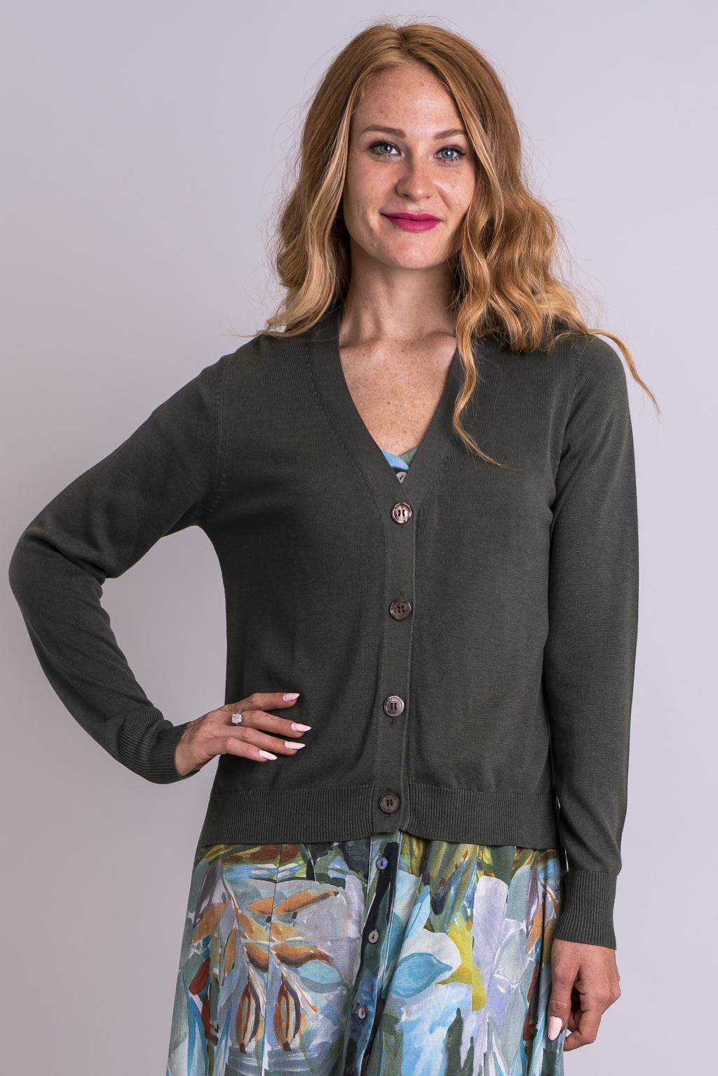 Jessica Sweater, Khaki, Bamboo Cotton - Blue Sky Clothing Co