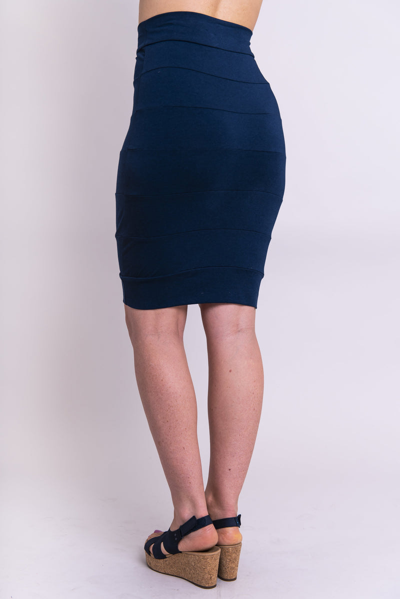 Jonelle Skirt, Indigo, Bamboo - Blue Sky Clothing Co