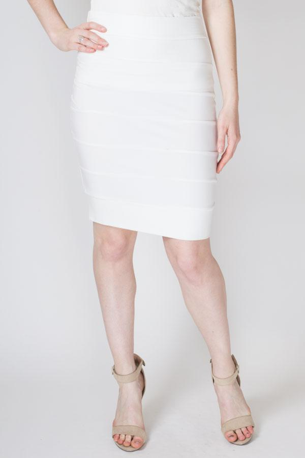 Jonelle Skirt, White, Bamboo - Blue Sky Clothing Co