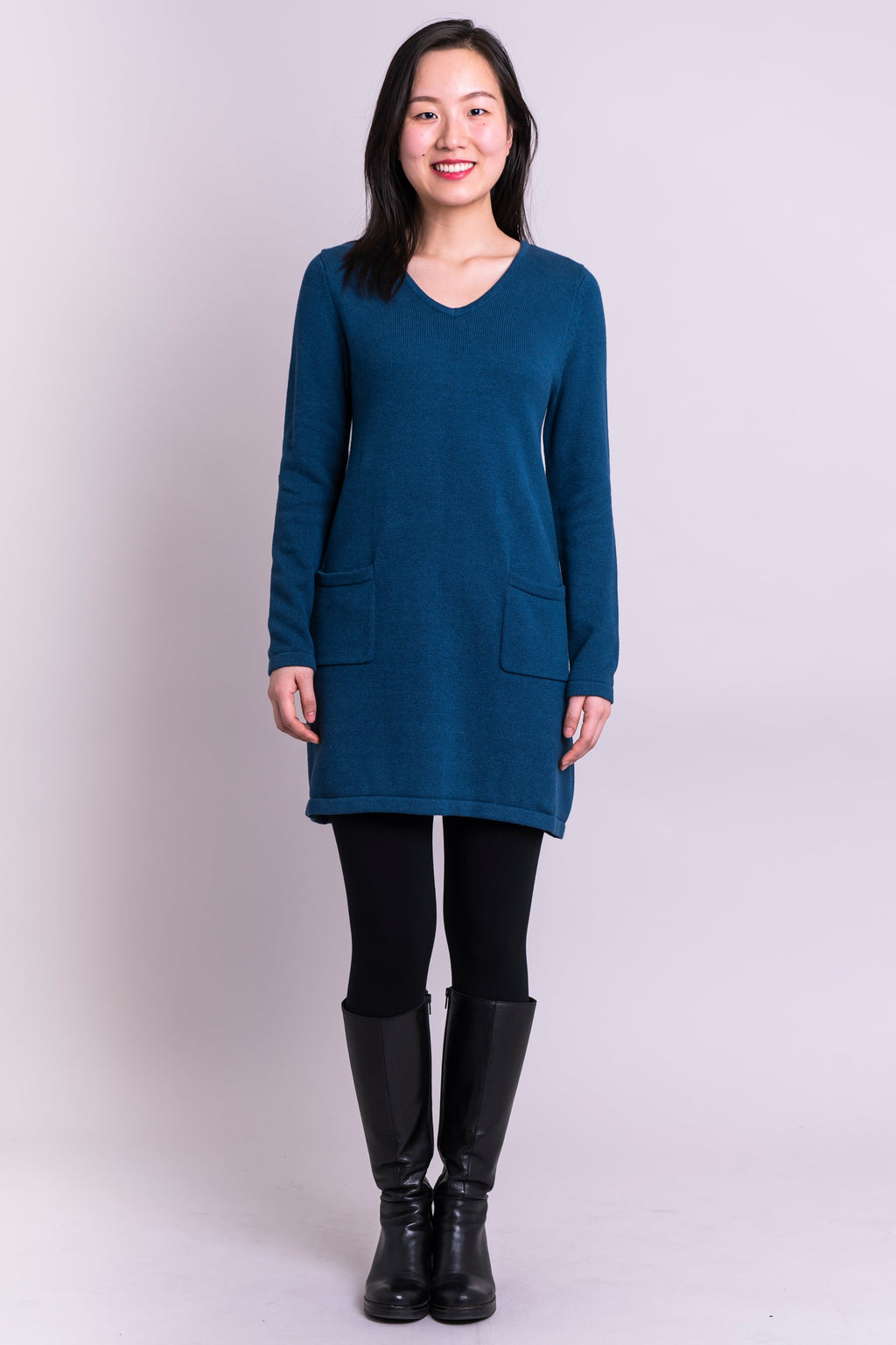 Joni Sweater, Blue Dusk, Cotton - Blue Sky Clothing Co