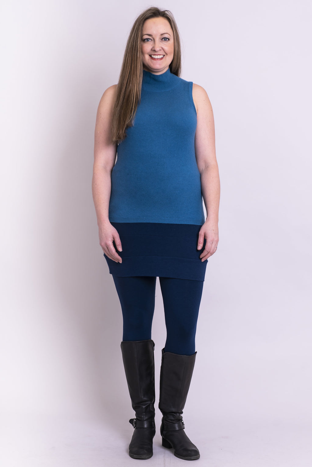 Joplin Sweater, Blue Topaz, Cashmere - Blue Sky Clothing Co