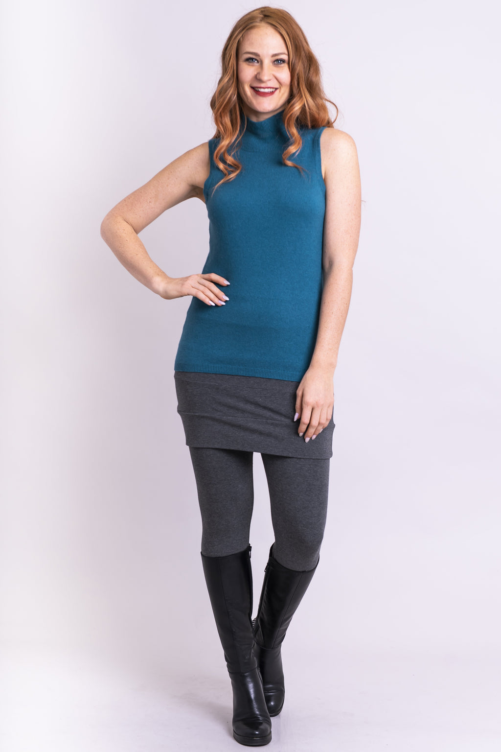 Joplin Sweater, Jade, Cashmere - Blue Sky Clothing Co
