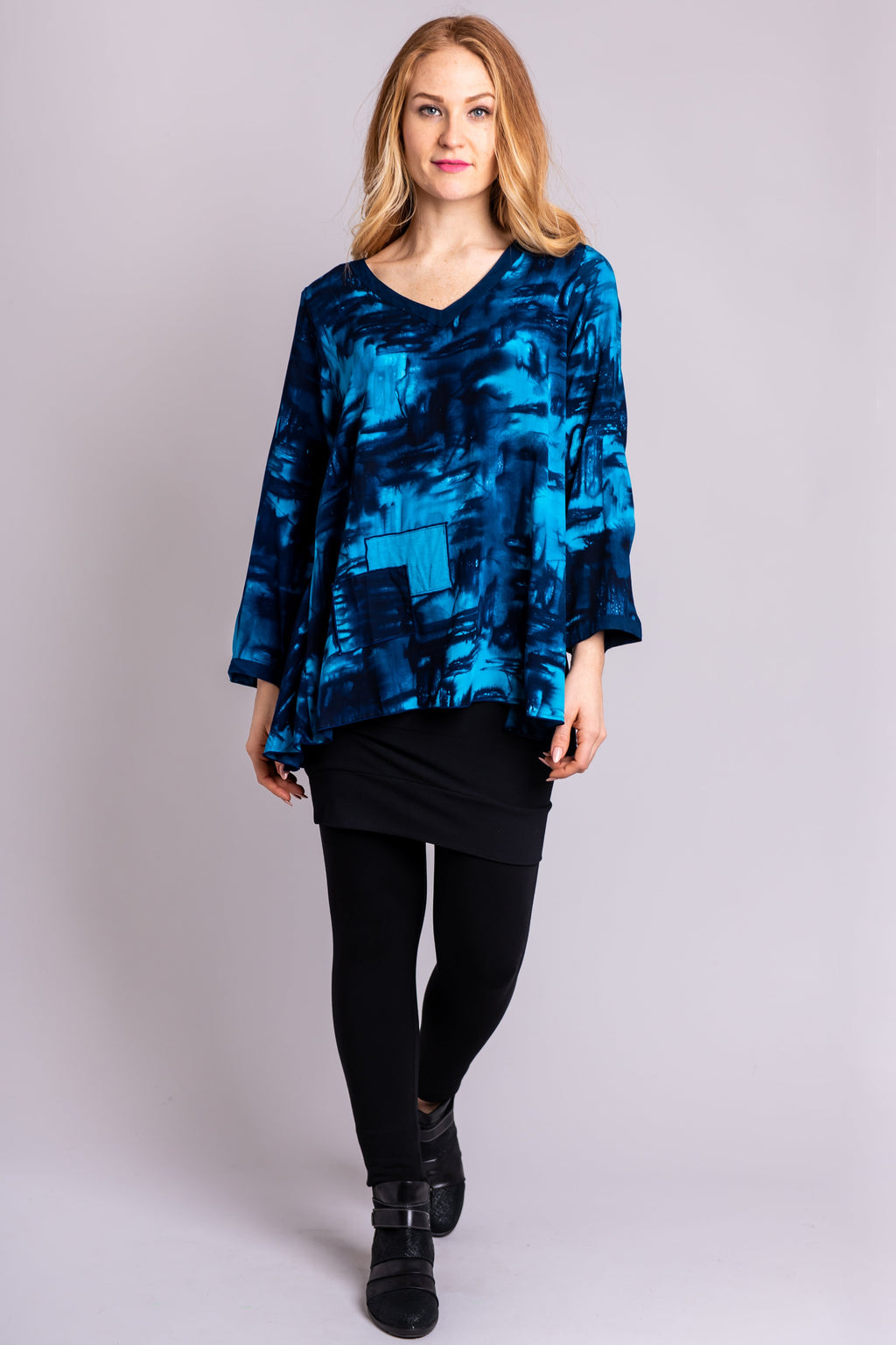 Joy Blouse, Blue Weave