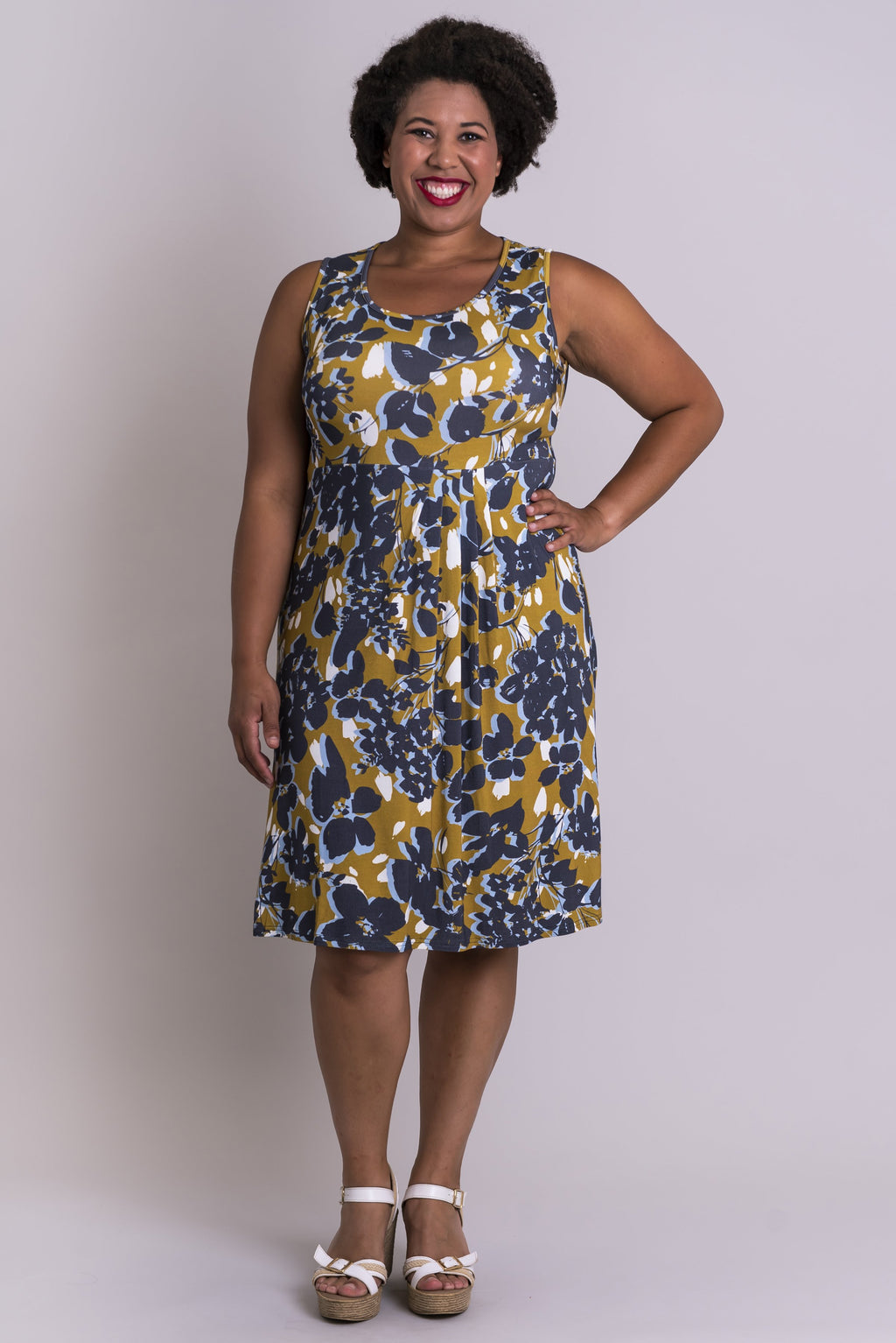 Judy Dress, Clover Spice, Bamboo - Blue Sky Clothing Co