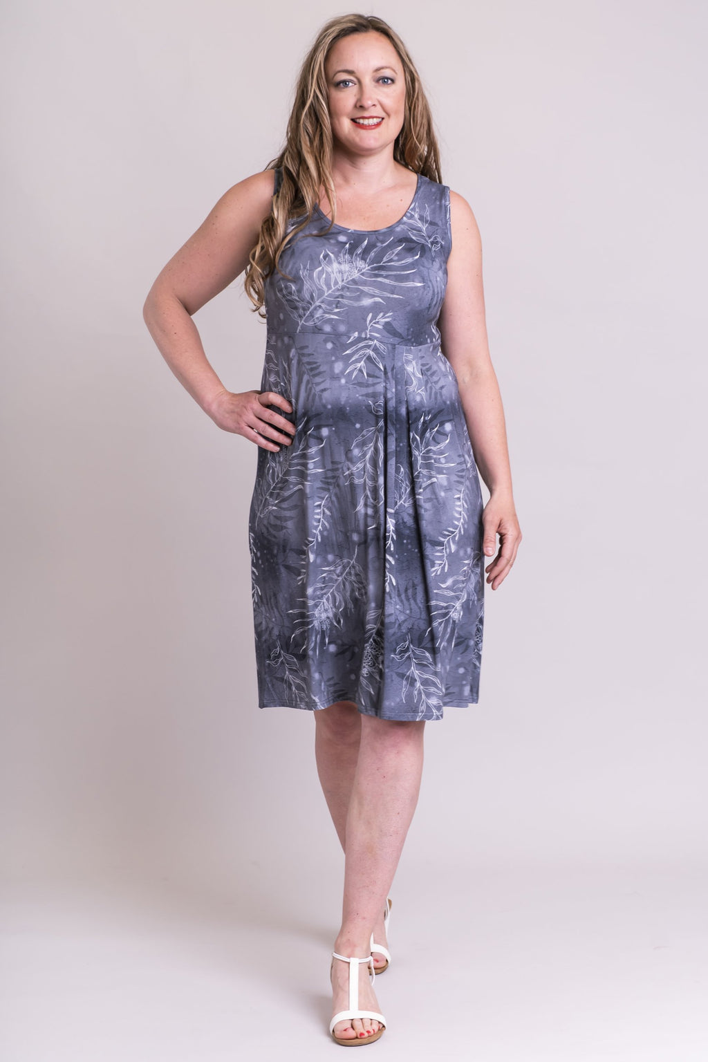 Judy Dress, Grey Lady, Bamboo - Blue Sky Clothing Co