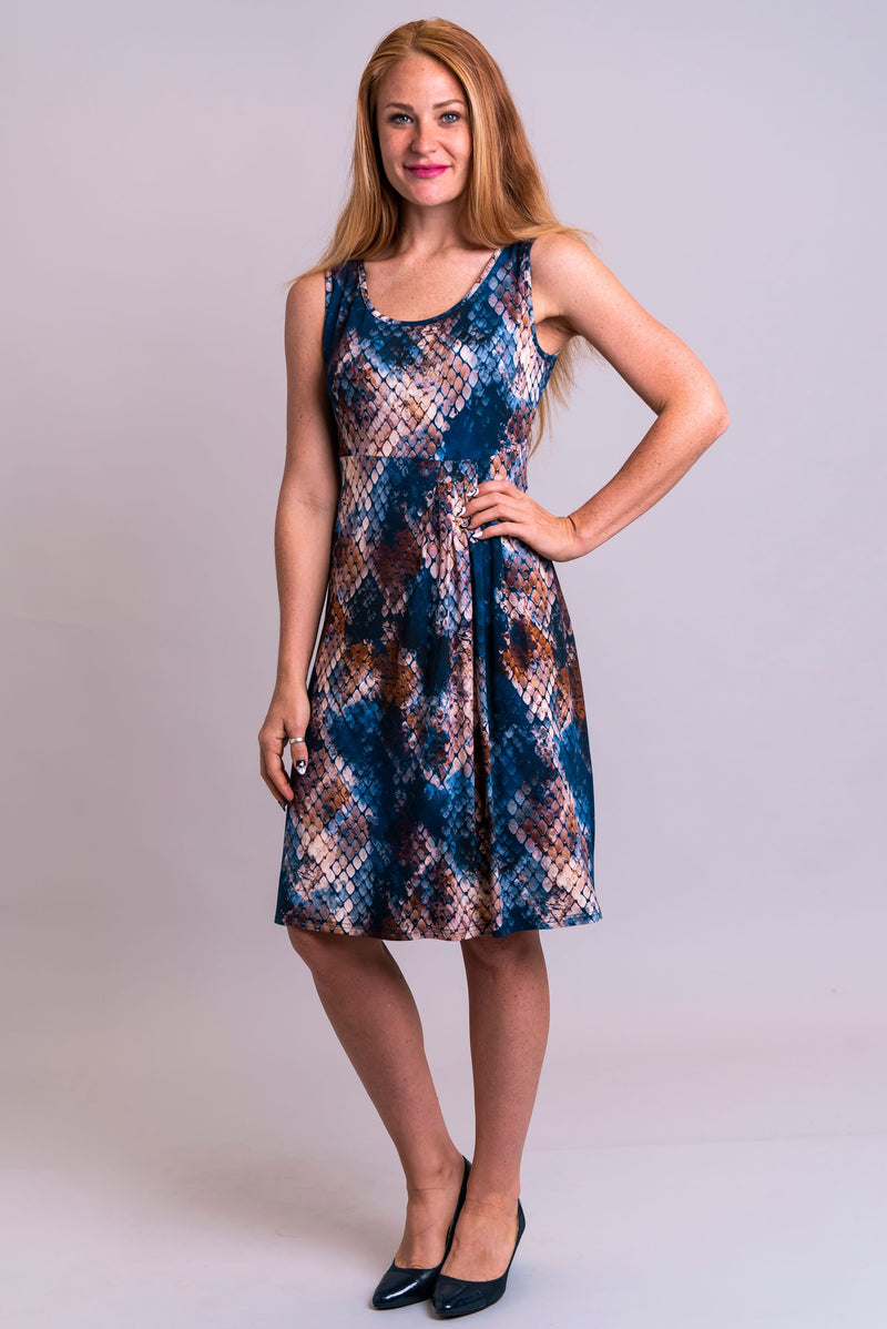 Judy Dress, Snakeskin, Bamboo - Blue Sky Clothing Co