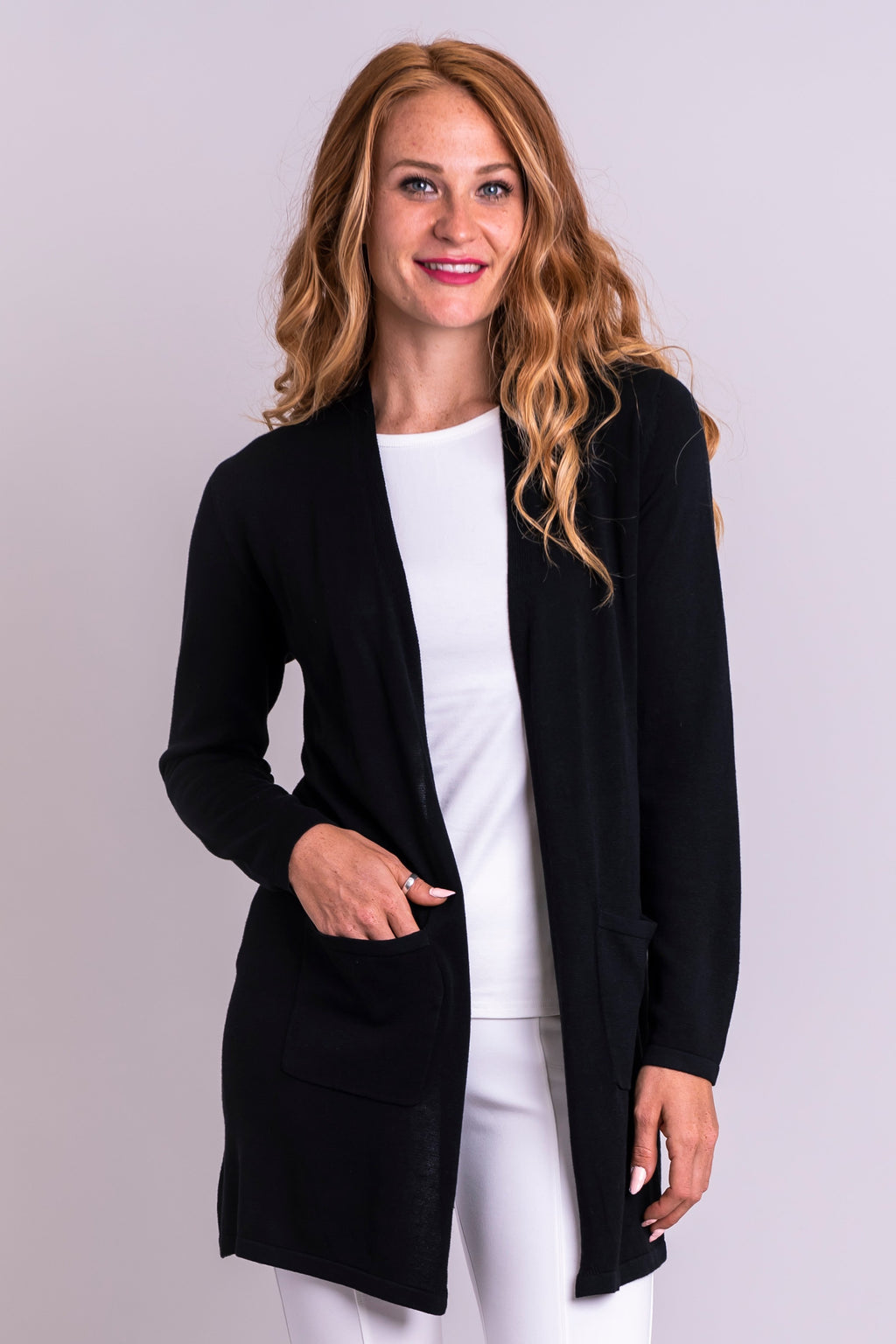 Justine Sweater, Black, Bamboo Cotton