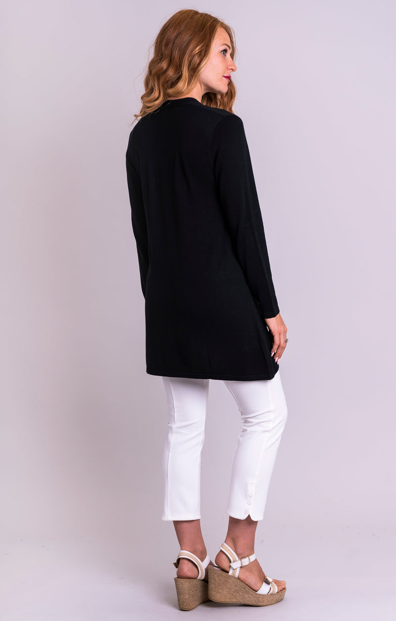 Justine Sweater, Black, Bamboo Cotton - Blue Sky Clothing Co