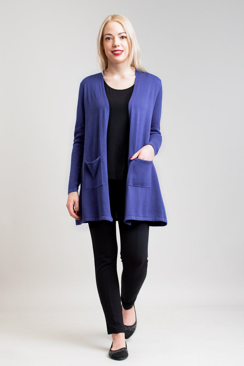 Justine Sweater, Deep Blue, Bamboo Cotton