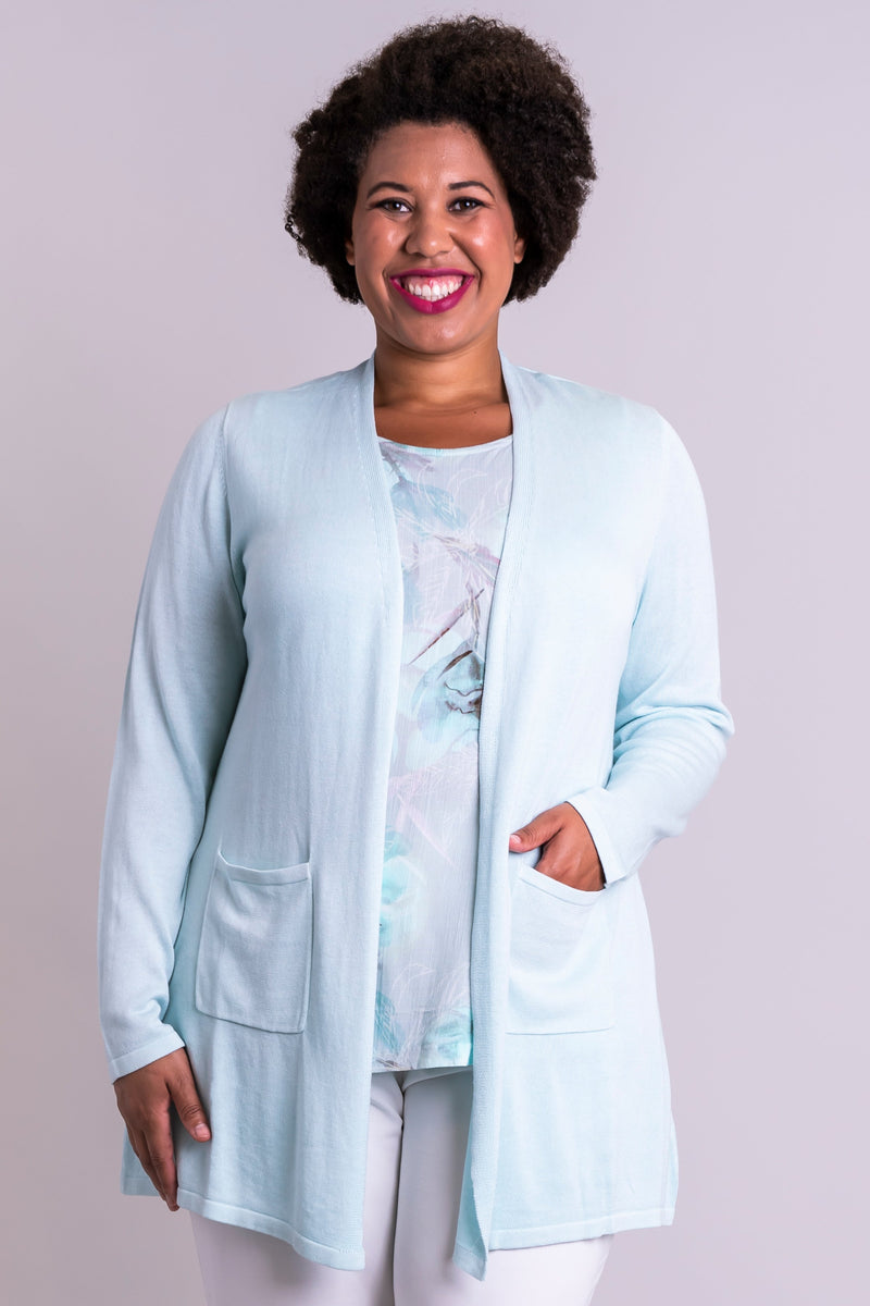 Justine Sweater, Fresh Mint, Bamboo Cotton - Blue Sky Clothing Co