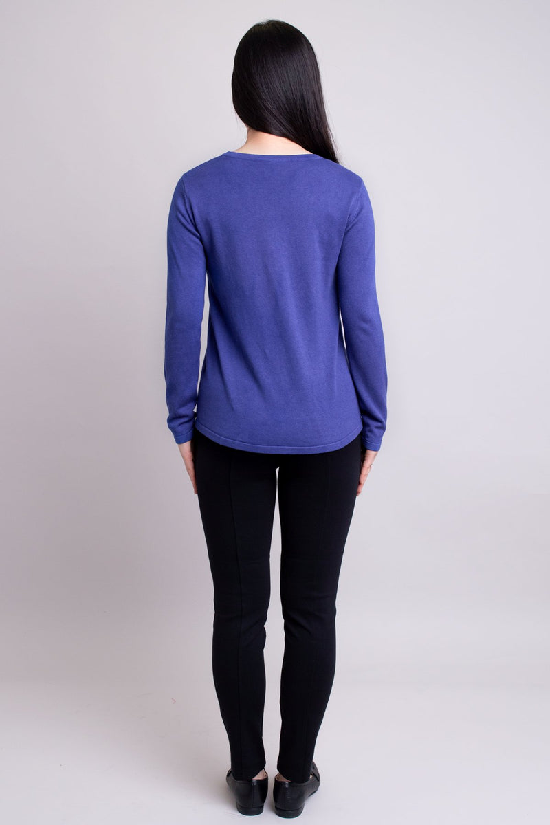 Kalia Sweater, Deep Blue, Bamboo Cotton
