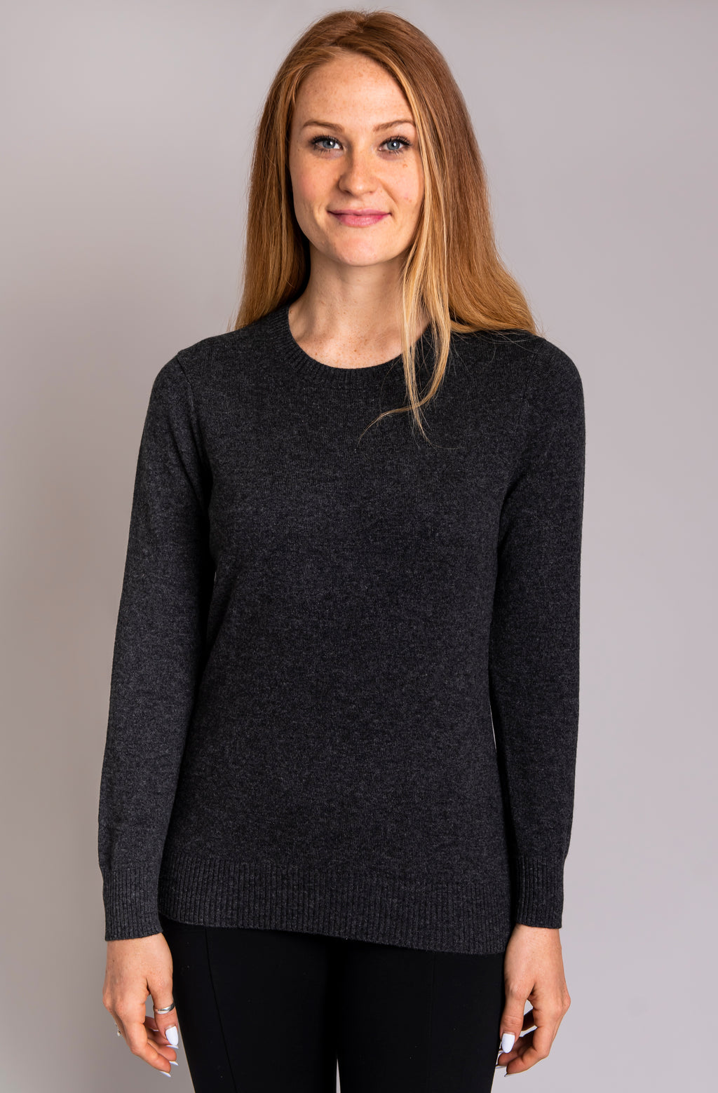 Kamila Sweater, Graphite, Cashmere - Blue Sky Clothing Co