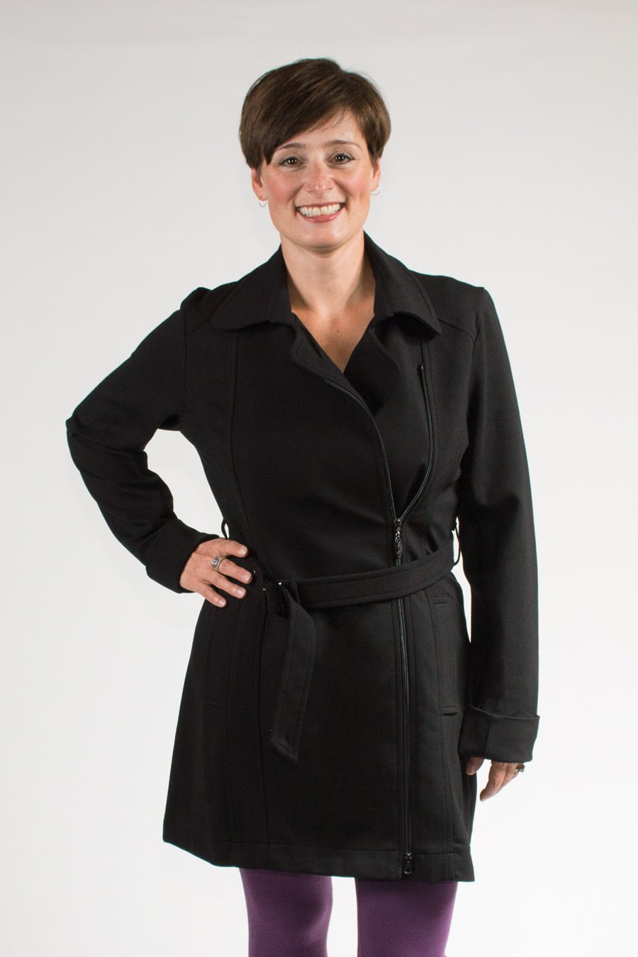 Karen Coat, Black, Modal - Blue Sky Clothing Co